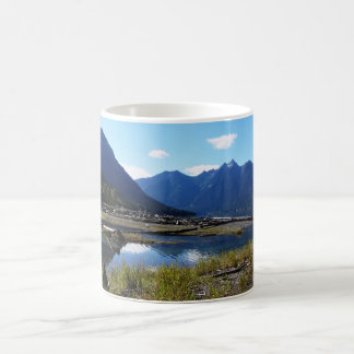 Paysage de nature de lac mountain mug à café