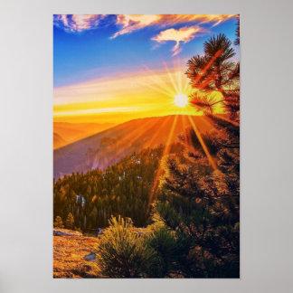 Paysage de nature de lever de soleil de matin beau