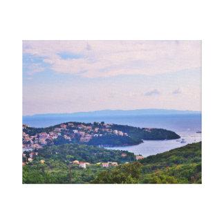 Paysage de Sivota, Grèce Toile Tendue