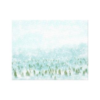 Paysage d'hiver avec l'arrière - plan neigeux toiles