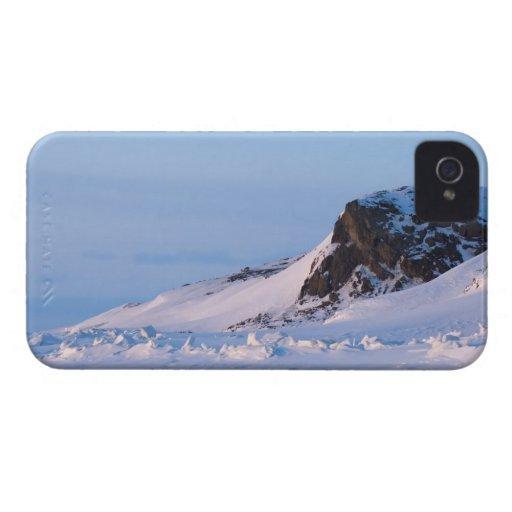 paysage d'hiver sur l'île de Herschel, sur Étuis iPhone 4