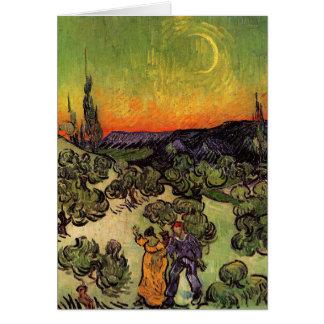 Paysage éclairé par la lune de Vincent van Gogh Carte