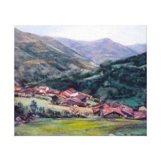 Paysage galicien/Galician landscape Toile Tendue Sur Châssis