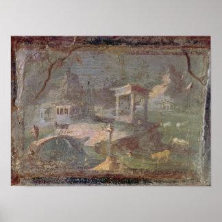 Paysage idyllique de Herculanum Posters