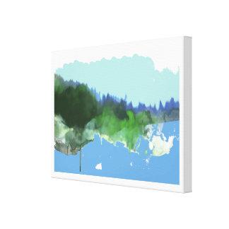 paysage imaginaire de digital_art impression sur toile