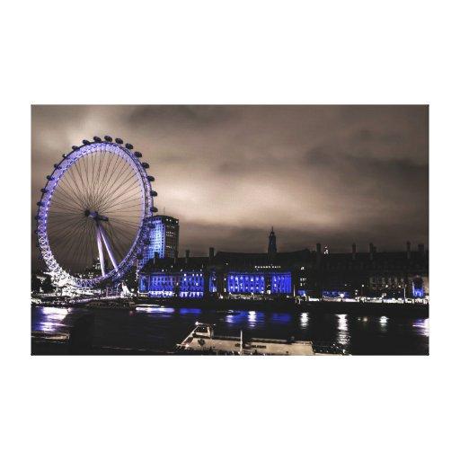 Paysage mystérieux d'oeil de Londres par la toile  Impressions Sur Toile