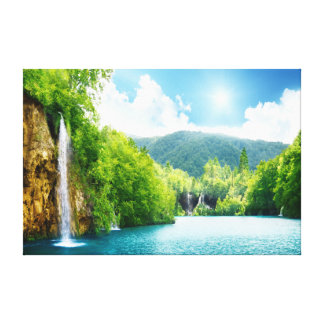 Paysage naturel - cascade toiles tendues sur châssis