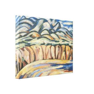 Paysage, Nouveau Mexique par Marsden Hartley, Mode Toile Tendue Sur Châssis
