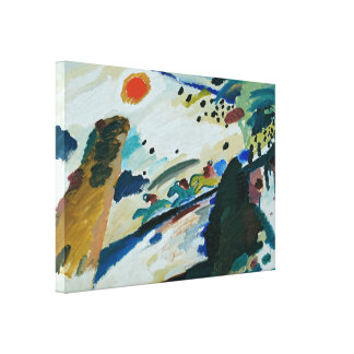 Paysage romantique par Wassily Kandinsky Impression Sur Toile