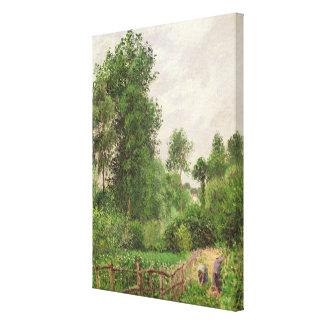 Paysage, temps gris a Eragny Canvas Print
