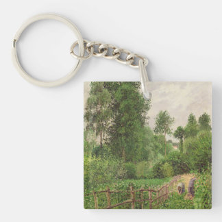 Paysage, temps gris a Eragny Keychain