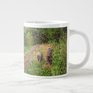 Paysage, temps gris a Eragny Large Coffee Mug