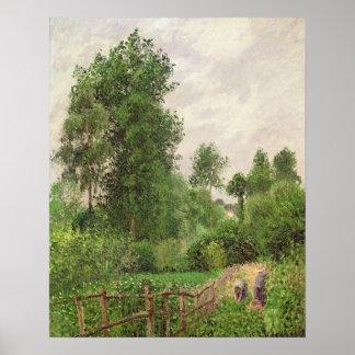 Paysage, temps gris a Eragny Poster