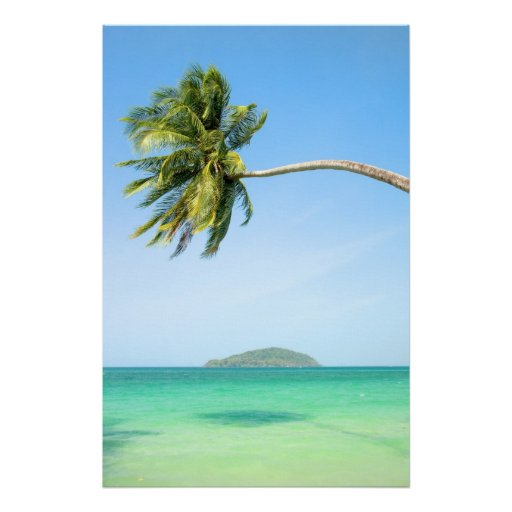 Paysage tropical poster