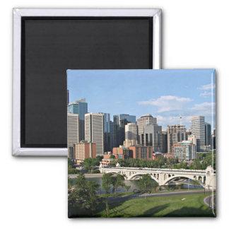 Paysage urbain de Calgary Magnets Pour Réfrigérateur