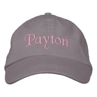 Payton Embroidered Baseball Cap Hat Pink Gray