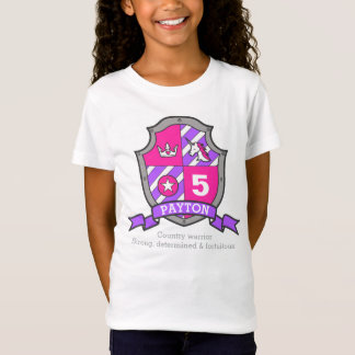 Payton name meaning 5th birthday princess knight T-Shirt
