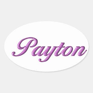Payton sticker name