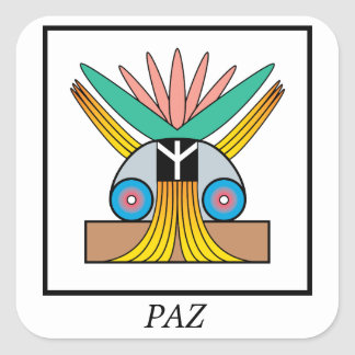 Paz (Peace) Symbol. Plejaren symbol for peace Square Sticker