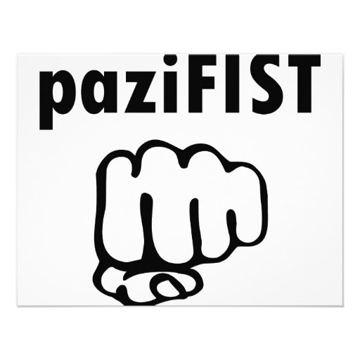 pazifist icon personalized announcement