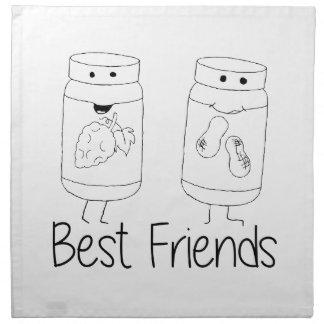 PB and J Best Friends Cloth Napkin