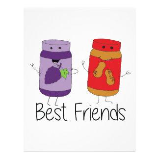 PB and J Best Friends- Color Customized Letterhead