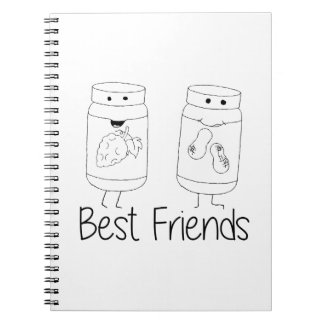 PB and J Best Friends Notebooks