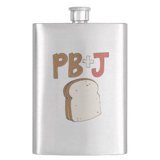 PB and J Sandwich Hip Flask