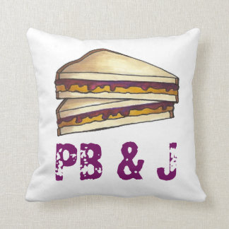 PB&J Peanut Butter and Jelly Sandwich Lunch Pillow