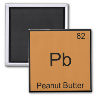 Pb - Peanut Butter Funny Element Chemistry T-Shirt Square Magnet