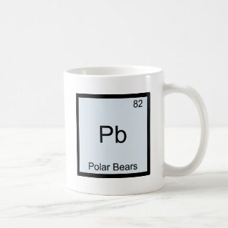 Pb - Polar Bears Funny Chemistry Element Symbol Coffee Mug