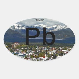 Pb Turq Lk Color Oval Sticker