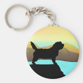 PBGV Dog By The Sea Keychain