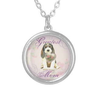 PBGV Heart Mom Silver Plated Necklace
