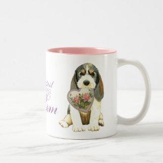 PBGV Heart Mom Two-Tone Coffee Mug