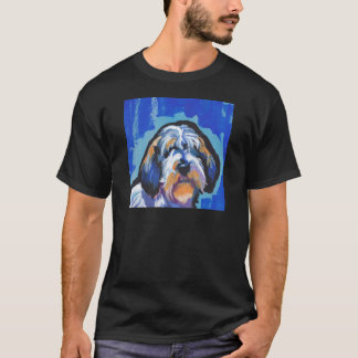 PBGV Petit Basset Griffon Vendeen bright pop art T-Shirt