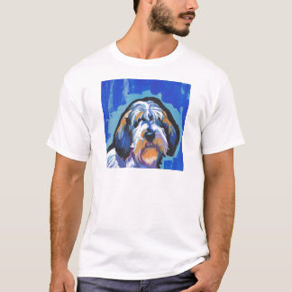 PBGV Petit Basset Griffon Vendeen bright pop art T-Shirt
