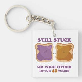 PBJ 40th Anniversary Keychain