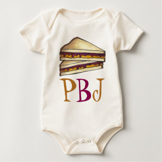 PBJ Peanut Butter and Jelly Sandwich Lunch Foodie Baby Bodysuit