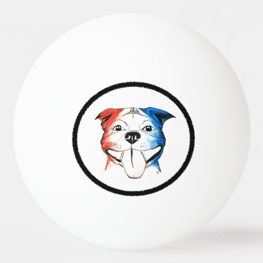 PBR Pit Bull Ping Pong Ball