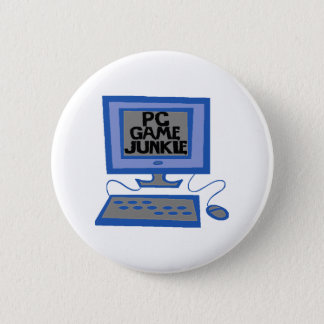 PC Game Junkie 2 Inch Round Button