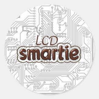 pcb LCD Smartie Classic Round Sticker