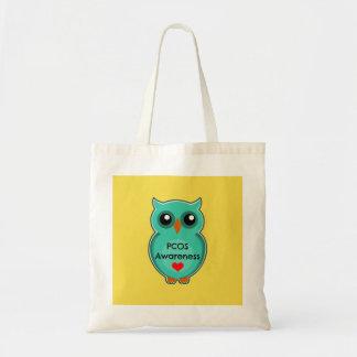 PCOS Awareness Owl Tote Bag