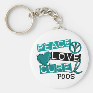 PCOS Peace Love Cure 1 Keychain