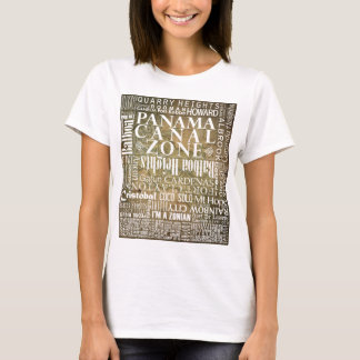 PCZ – Panama Canal Zone Locations with BG Map T-Shirt