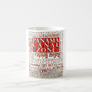 PCZ – Panama Canal Zone Locations wth Mola Design Coffee Mug