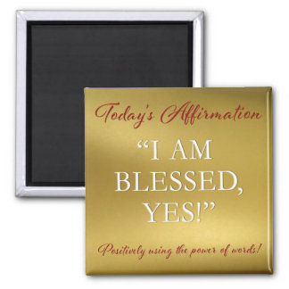 PD Affirmation Magnet Blessed