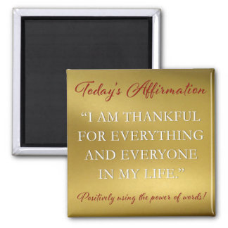 PD Affirmation Magnet Thankful
