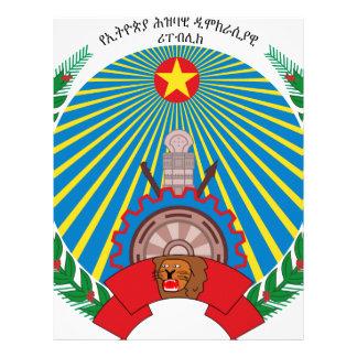 PDR_Ethiopia_emblem Letterhead Design