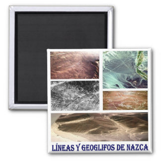PE - Peru-Nazca Lines and Geoglyphs-I Love Collage Magnet